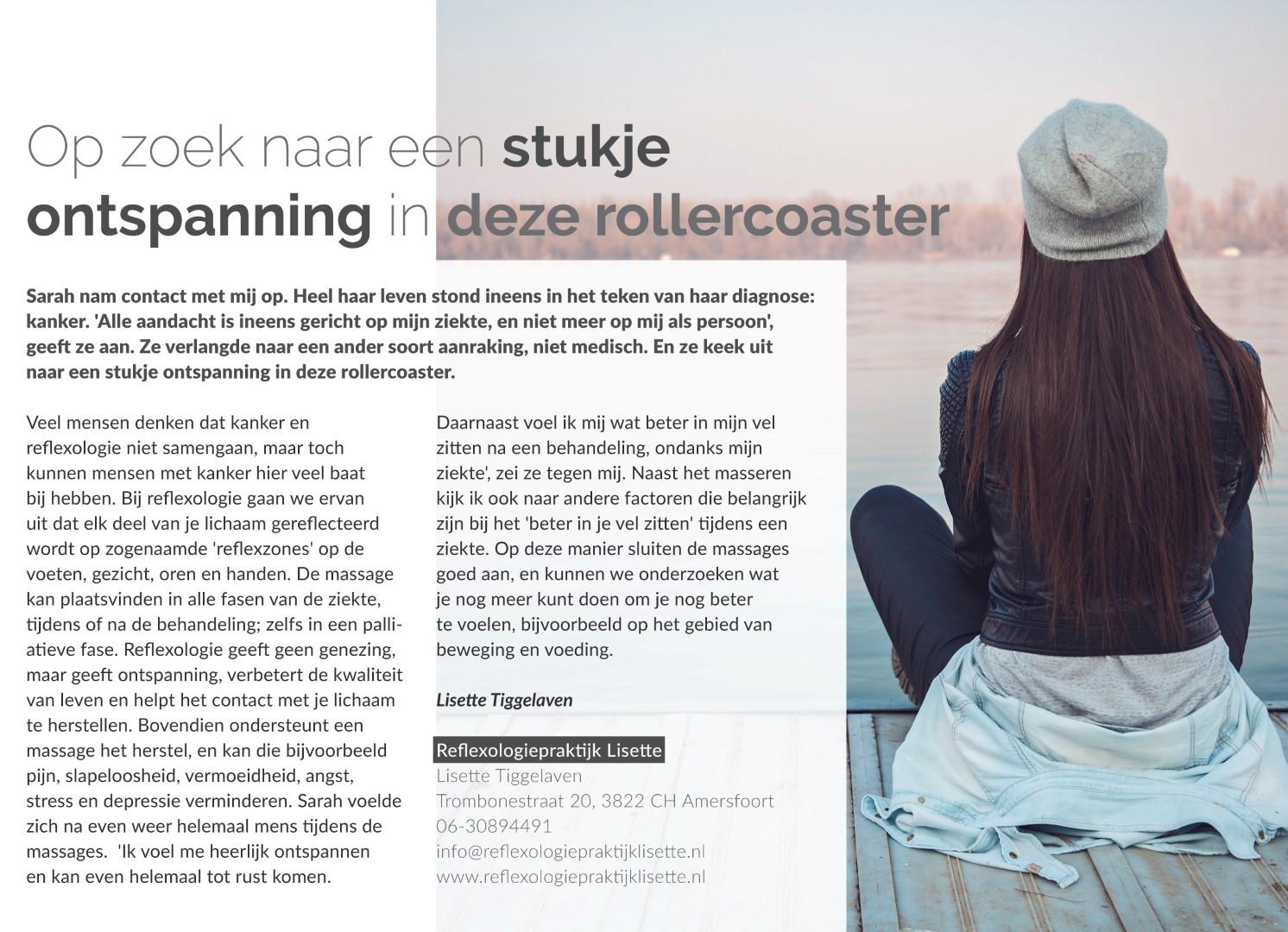 Kanker Reflexologie Lisette Amersfoort