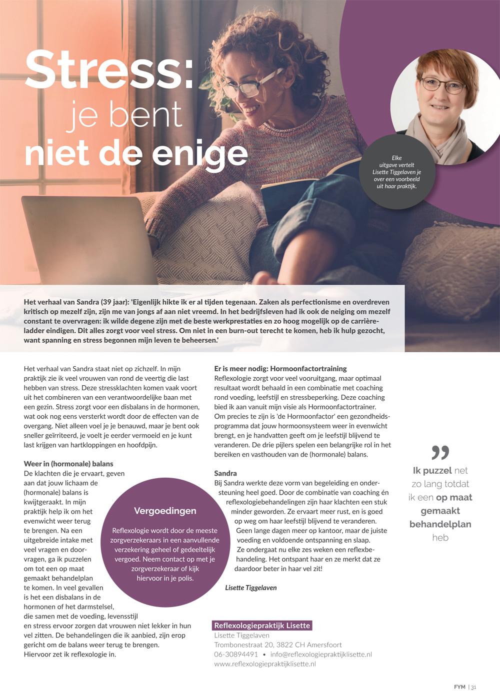 Stress Reflexologie Lisette Amersfoort